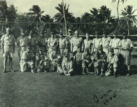 Stan Bazan with the Third Marine Division All-Stars