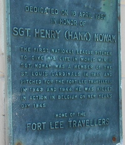Hank Nowak Plaque
