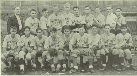 Don Shelton (back row, fourth from left) with the Licoln High School baseball team in 1938